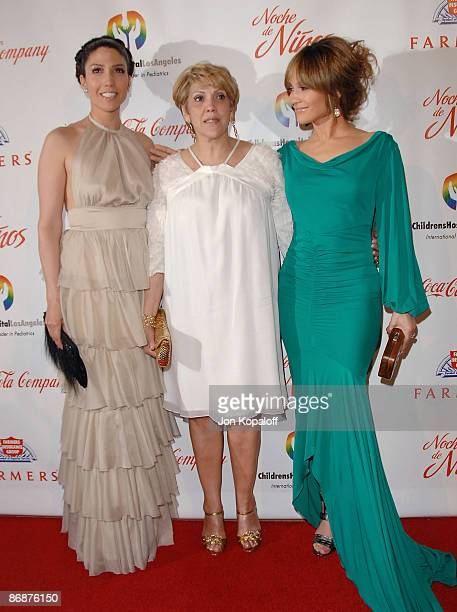 Actress Jennifer Lopez mom Guadalupe Lopez and sister Lynda Lopez arrive at the 3rd Annual Noche de Ninos Gala at The Beverly Hilton Hotel on May 9...