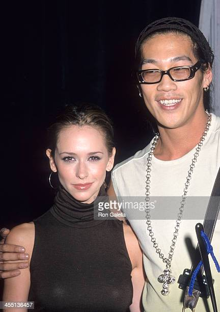 Actress Jennifer Love Hewitt and accessory designer Kenneth Wang attend Gen Art's Sixth Annual Fresh Faces in Fashion Event on September 13 2000 at...