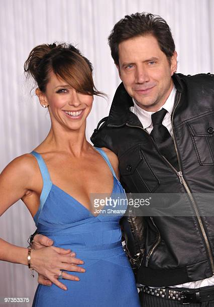 Actress Jennifer Love Hewitt and actor Jamie Kennedy arrive to the 'Ghost Whisperer' 100th Episode Celebration at XIV on March 1 2010 in West...