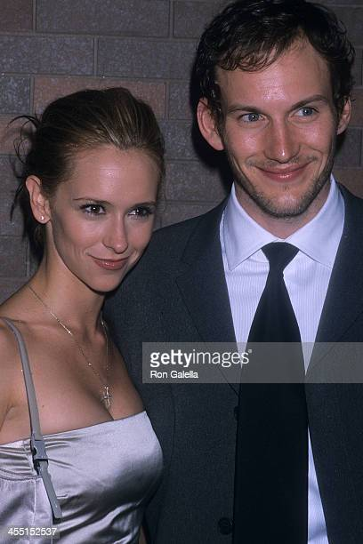 Actress Jennifer Love Hewitt and actor Patrick Wilson attend the 46th Annual Drama Desk Awards on May 20 2001 at the Fiorello H LaGuardia High School...