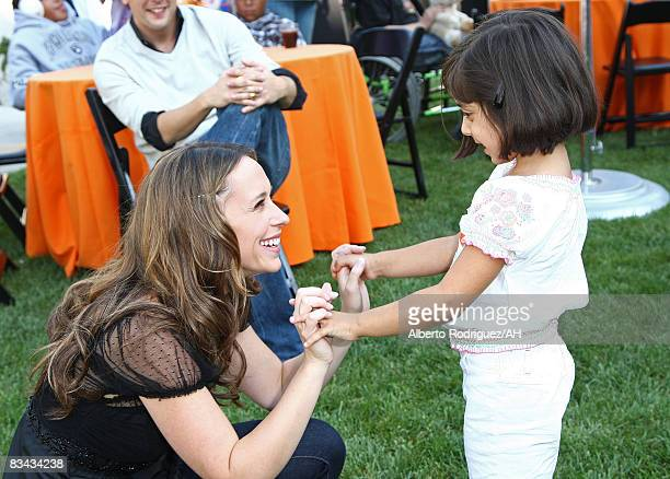 Actress Jennifer Love Hewitt and Kiana Roa attend a Halloween party at Childrens Hospital Los Angeles hosted by Jennifer Love Hewitt and Ross McCall...