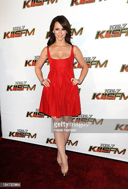Actress Jennifer Love Hewitt arrives at the KIIS FM's Jingle Ball 2011 at Nokia Theatre LA Live on December 3 2011 in Los Angeles California