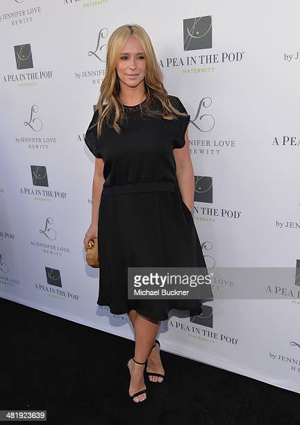 Actress Jennifer Love Hewitt arrives at the Launches of Jennifer Love Hewitt's new maternity line L by Jennifer Love Hewitt at A Pea In The Pod on...