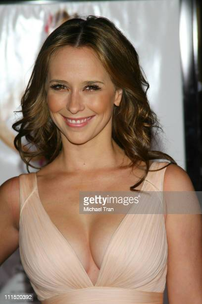 Actress Jennifer Love Hewitt arrives at the Los Angeles Premiere of 27 Dresses held at The Mann Village Theatre on January 7 2008 in Westwood...