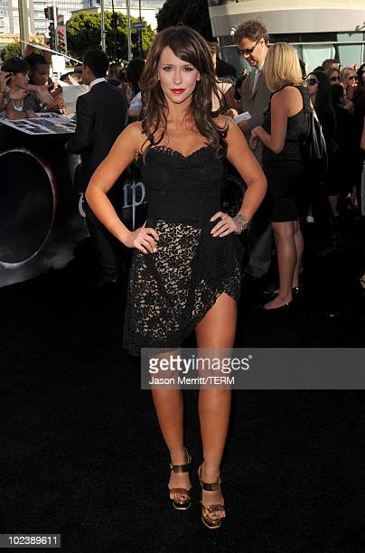 "Actress Jennifer Love Hewitt arrives at the premiere of Summit Entertainment's ""The Twilight Saga: Eclipse"" during the 2010 Los Angeles Film Festival..."