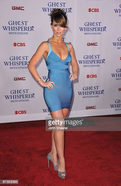 Actress Jennifer Love Hewitt arrives to the Ghost Whisperer 100th Episode Celebration at XIV on March 1 2010 in West Hollywood California