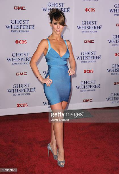 Actress Jennifer Love Hewitt arrives to the 'Ghost Whisperer' 100th Episode Celebration at XIV on March 1 2010 in West Hollywood California