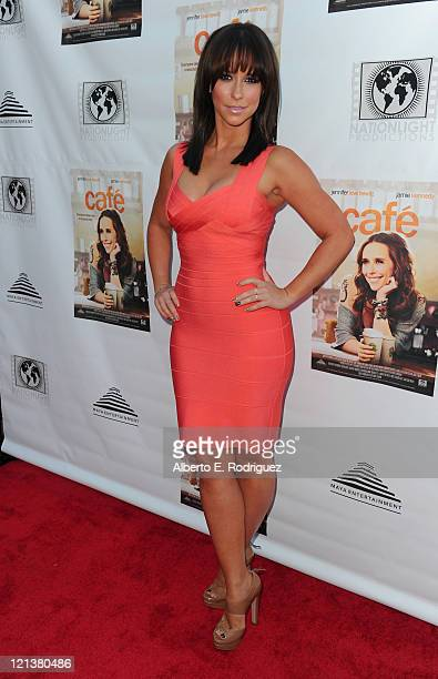 Actress Jennifer Love Hewitt arrives to the premiere of Maya Entertainment's Cafe on August 18 2011 in Los Angeles California