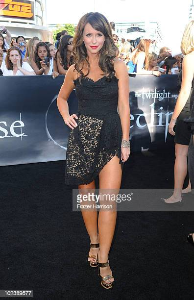 Actress Jennifer Love Hewitt arrives to the premiere of Summit Entertainment's The Twilight Saga Eclipse during the 2010 Los Angeles Film Festival at...