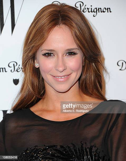 Actress Jennifer Love Hewitt arrives to the W Magazine Golden Globe Awards party on January 14 2011 in West Hollywood California