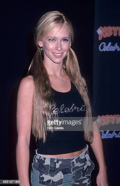 Actress Jennifer Love Hewitt attends ive Records Hosts Release Party for NSYNC's New Album Celebrity on July 23 2001 at Moomba in West Hollywood...