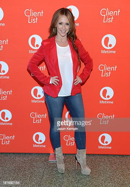 """Actress Jennifer Love Hewitt attends Lifetime's """"The Client List"""" Valentine's Day Event at Mel's Diner on February 14, 2013 in West Hollywood,..."""