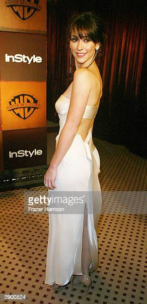 Actress Jennifer Love Hewitt attends the 61st Annual Golden Globe Awards In Style after party at the Beverly Hilton Hotel on January 25 2004 in...