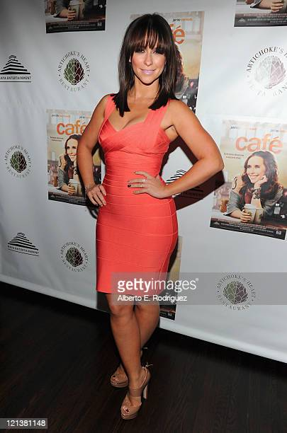 Actress Jennifer Love Hewitt attends the after party for the premiere of Maya Entertainment's Cafe on August 18 2011 in Los Angeles California