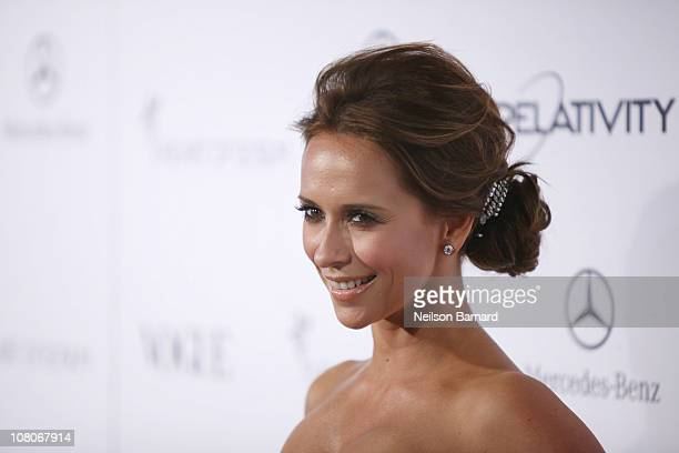 Actress Jennifer Love Hewitt attends the Art Of Elysium 'Heaven' Gala 2011 at The California Science Center Exposition Park on January 15 2011 in Los...
