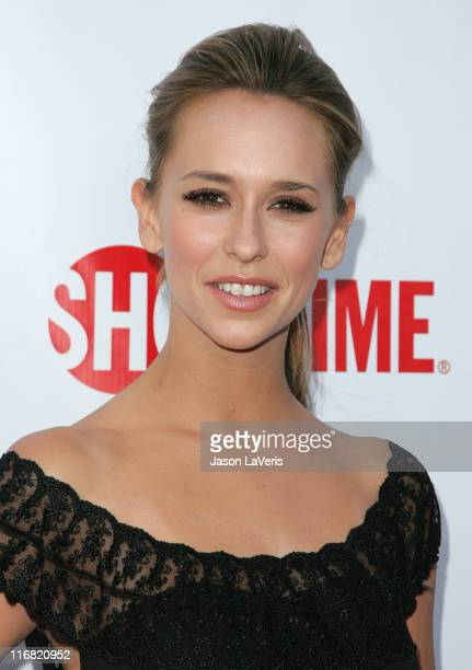 Actress Jennifer Love Hewitt attends the CBS CW Showtime Press Tour Stars Party at Boulevard3 on July 18 2008 in Hollywood California