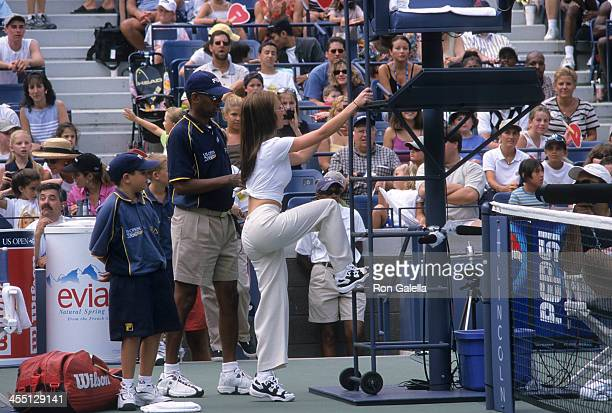 Actress Jennifer Love Hewitt attends the Fifth Annual Arthur Ashe Kids' Day on August 26 2000 at the USTA National Tennis Center in Flushing Queens...