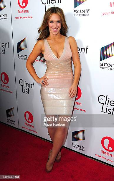 "Actress Jennifer Love Hewitt attends the launch party for Lifetime's new series ""The Client List"" at Sunset Tower on April 4, 2012 in West Hollywood,..."