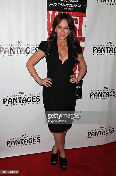 Actress Jennifer Love Hewitt attends the opening night of 'West Side Story' at the Pantages Theatre on December 1 2010 in Hollywood California