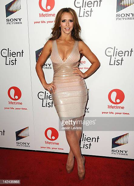 Actress Jennifer Love Hewitt attends the premiere party for Lifetime's newest series The Client List at Sunset Tower on April 4 2012 in West...