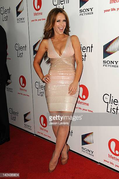 Actress Jennifer Love Hewitt attends the premiere party for Lifetime's newest series 'The Client List' at Sunset Tower on April 4 2012 in West...
