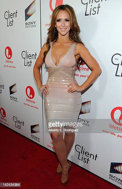Actress Jennifer Love Hewitt attends the red carpet launch party for Lifetime and Sony Pictures' The Client List at Sunset Tower on April 4 2012 in...