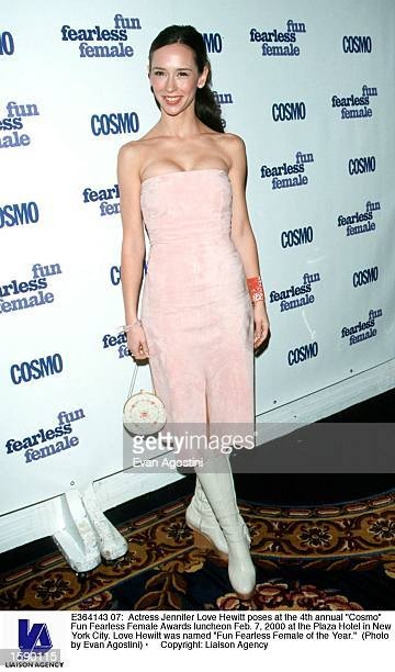 Actress Jennifer Love Hewitt poses at the 4th annual Cosmo Fun Fearless Female Awards luncheon Feb 7 2000 at the Plaza Hotel in New York City Love...