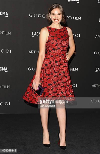 Actress Jennifer Missoni arrives at the 2014 LACMA Art Film Gala Honoring Quentin Tarantino And Barbara Kruger at LACMA on November 1 2014 in Los...