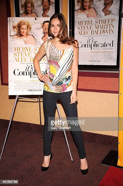 Actress Jennifer Missoni attends the It's Complicated special screening at the Chelsea Clearview Cinema 9 on December 10 2009 in New York City