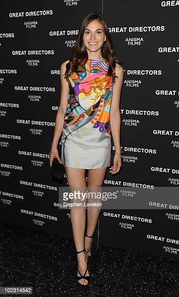 Actress Jennifer Missoni attends the premiere of Great Directors premiere at The Museum of Modern Art on June 22 2010 in New York City