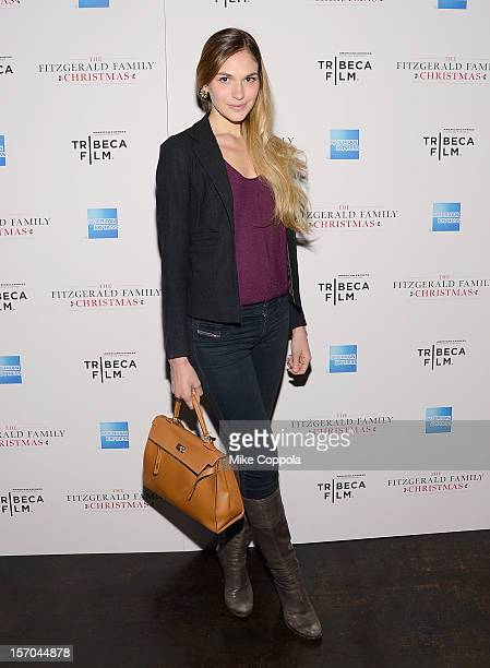 Actress Jennifer Missoni attends Tribeca Film's Special New York Screening Of The Fitzgerald Family Christmas at Tribeca Grand Hotel on November 27...