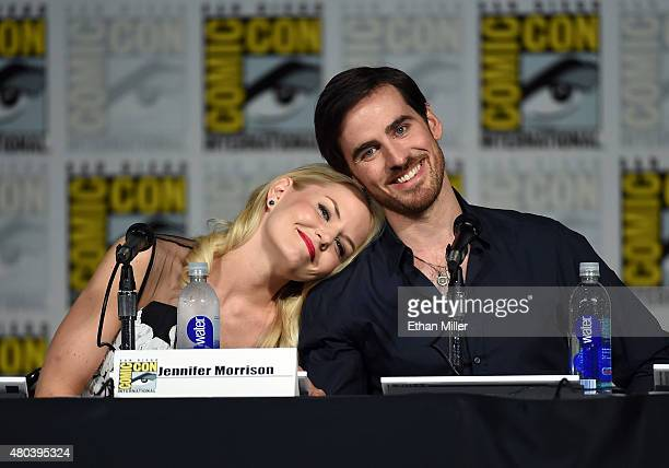 Actress Jennifer Morrison and actor Colin O'Donoghue attend the Once Upon a Time panel during ComicCon International 2015 at the San Diego Convention...