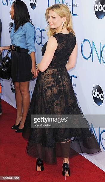 """Actress Jennifer Morrison arrives at ABC's """"Once Upon A Time"""" Season 4 Red Carpet Premiere at the El Capitan Theatre on September 21, 2014 in..."""