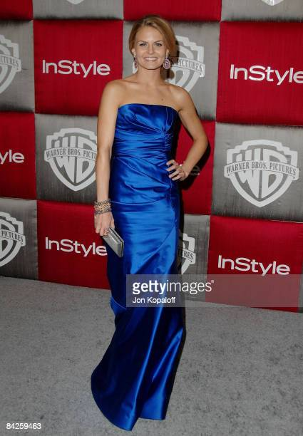 Actress Jennifer Morrison arrives at the 66th Annual Golden Globe Awards InStyle Warner Bros Official After Party at the Oasis Court at The Beverly...