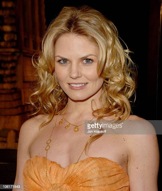 Actress Jennifer Morrison arrives at the Los Angeles Premiere Cloverfield at Paramount Studios on January 16 2008 in Los Angeles California