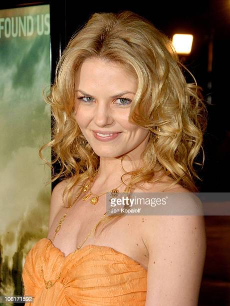 Actress Jennifer Morrison arrives at the Los Angeles Premiere 'Cloverfield' at Paramount Studios on January 16 2008 in Los Angeles California