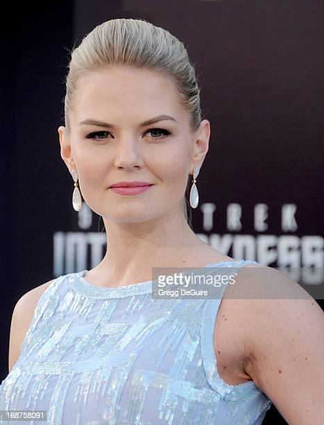 Actress Jennifer Morrison arrives at the Los Angeles premiere of 'Star Trek Into Darkness' at Dolby Theatre on May 14 2013 in Hollywood California