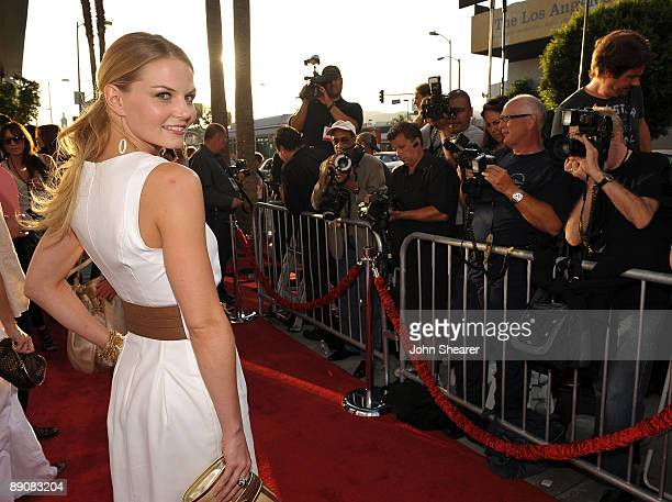 Actress Jennifer Morrison arrives at the Los Angeles premiere of The Ugly Truth held at the Pacific's Cinerama Dome on July 16 2009 in Hollywood...