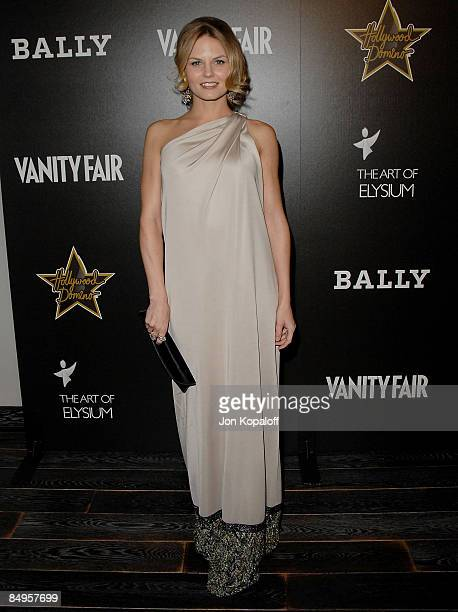 Actress Jennifer Morrison arrives at the Vanity Fair and Bally's Hollywood Domino Art of Elysium Benefit Party at the Andaz Hotel on February 20,...