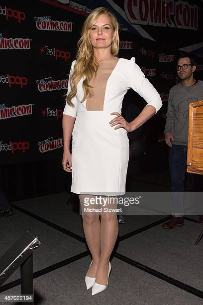 Actress Jennifer Morrison attends ABC Network's 'Once Upon a Time Has Frozen Over!' panel during 2014 New York Comic Con Day 2 at Jacob Javitz Center...