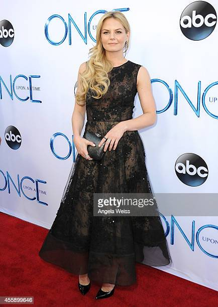 Actress Jennifer Morrison attends ABC's Once Upon A Time Season 4 red carpet premiere at the El Capitan Theatre on September 21 2014 in Hollywood...