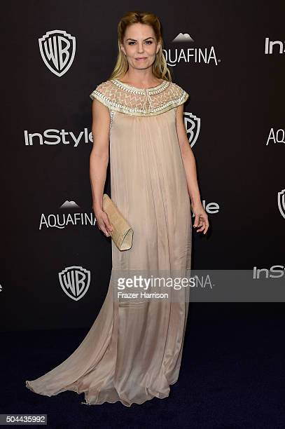 Actress Jennifer Morrison attends InStyle and Warner Bros 73rd Annual Golden Globe Awards PostParty at The Beverly Hilton Hotel on January 10 2016 in...