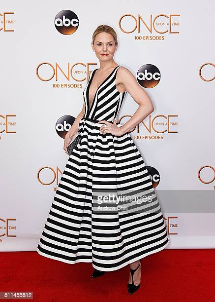 Actress Jennifer Morrison attends the 100th episode celebration of 'Once Upon A Time' at Storybrooke Cannery on February 20 2016 in Vancouver Canada