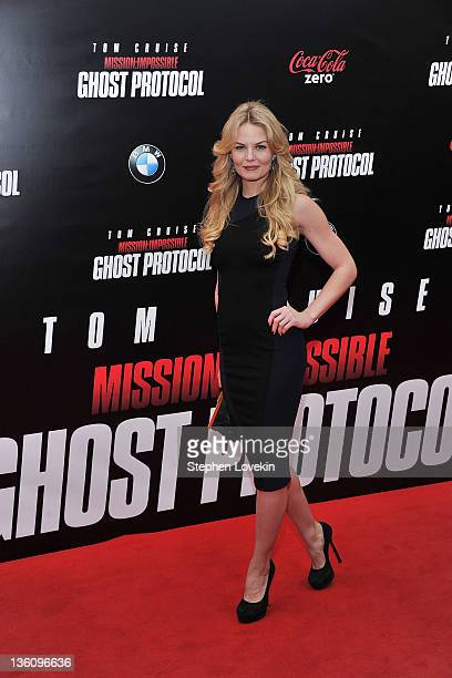 Actress Jennifer Morrison attends the Mission Impossible Ghost Protocol US premiere at the Ziegfeld Theatre on December 19 2011 in New York City
