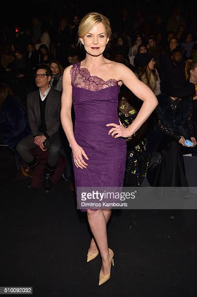 Actress Jennifer Morrison attends the Monique Lhuillier Fall 2016 fashion show during New York Fashion Week The Shows at The Arc Skylight at Moynihan...