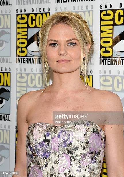 Actress Jennifer Morrison attends the Once Upon a Time press line during ComicCon International 2013 at the Hilton San Diego Bayfront Hotel on July...