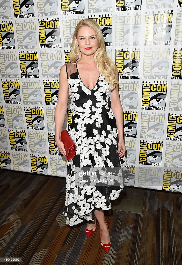Actress Jennifer Morrison attends the 'Once Upon A Time' press room during Comic-Con International 2015 at the Hilton Bayfront on July 11, 2015 in San Diego, California.