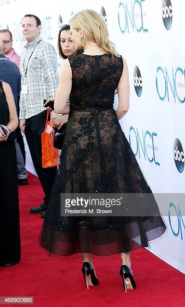 """Actress Jennifer Morrison attends the Screening of ABC's """"Once Upon A Time"""" Season 4 at the El Capitan Theatre on September 21, 2014 in Hollywood,..."""