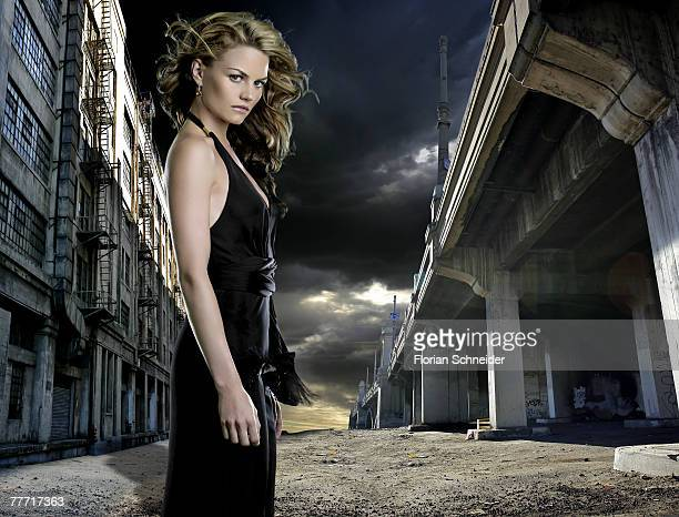 Actress Jennifer Morrison is photographed for Emmy Magazine in 2005 in Los Angeles California PUBLISHED IMAGE