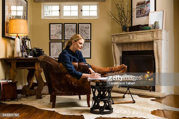 Actress Jennifer Morrison is photographed in her home for People Magazine on March 13 2016 in Los Angeles California